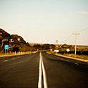 Rural road in semi-desert area